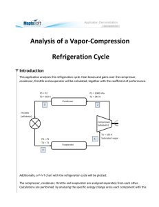 Analysis of a Vapor-Compression Refrigeration Cycle