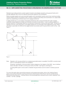 rg-12 : implementing resistance grounding on ungrounded systems