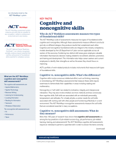 Cognitive and noncognitive skills