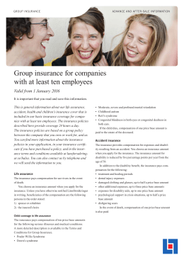 Group insurance for companies with at least ten