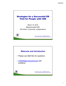 Strategies for a Successful ER Visit for People with I/DD Welcome