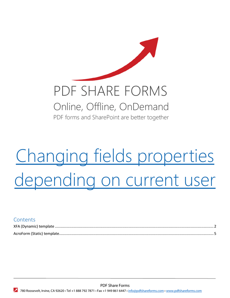 changing fields properties depending on current user
