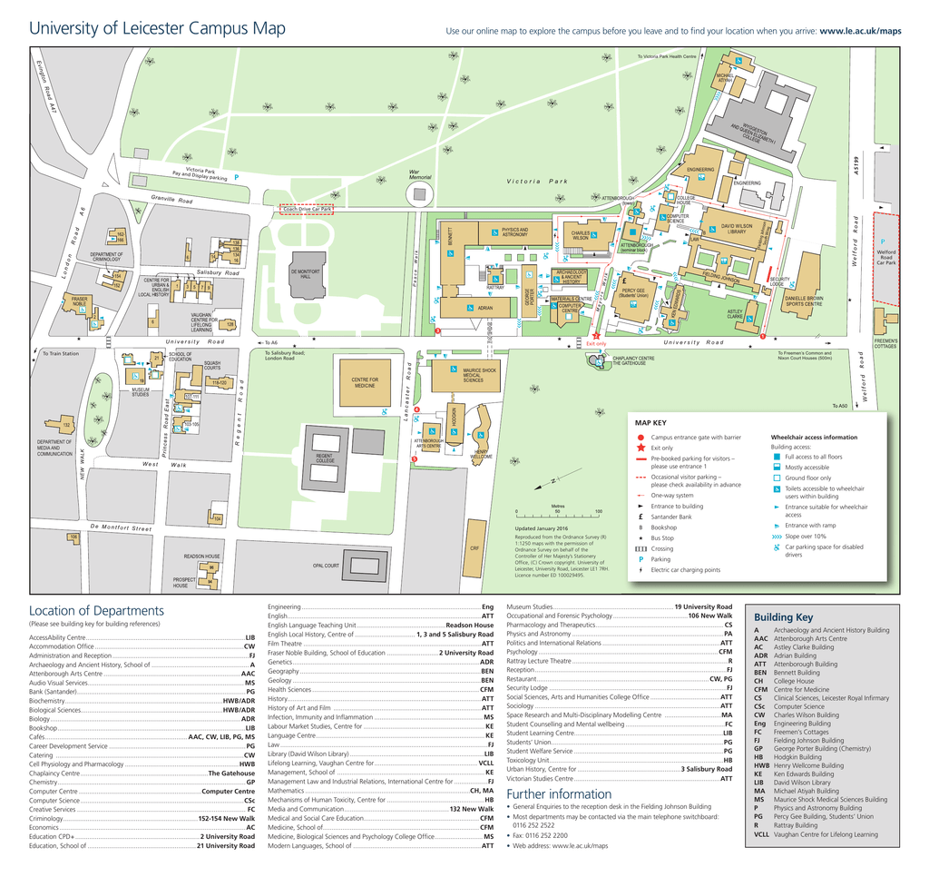 University of Leicester Campus Map