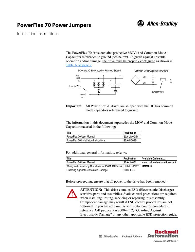 powerflex 70 power jumpers rh studylib net allen bradley powerflex 70 manual portugues allen bradley powerflex 70 manual pdf español