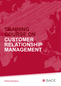 customer relationship management training course on