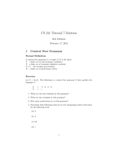 CS 241 Tutorial 7 Solution
