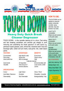 Heavy Duty Quick Break Cleaner Degreaser