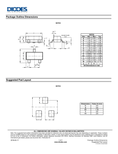 Package Outline Dimensions Suggested Pad Layout