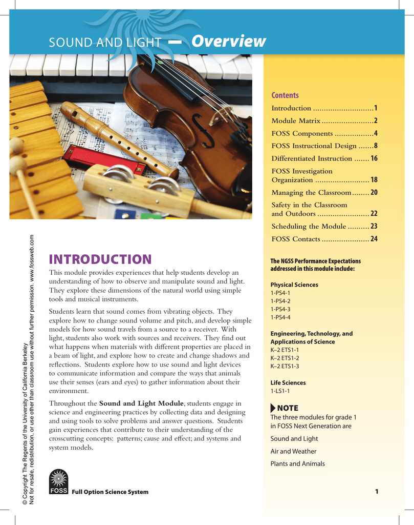 SOUND AND LIGHT Module Overview PDF