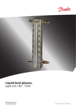 Liquid level glasses, type LLG 185 - 1550
