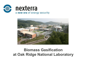 Biomass Gasification at Oak Ridge National Laboratory