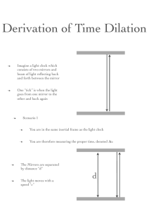 Derivation of Time Dilation