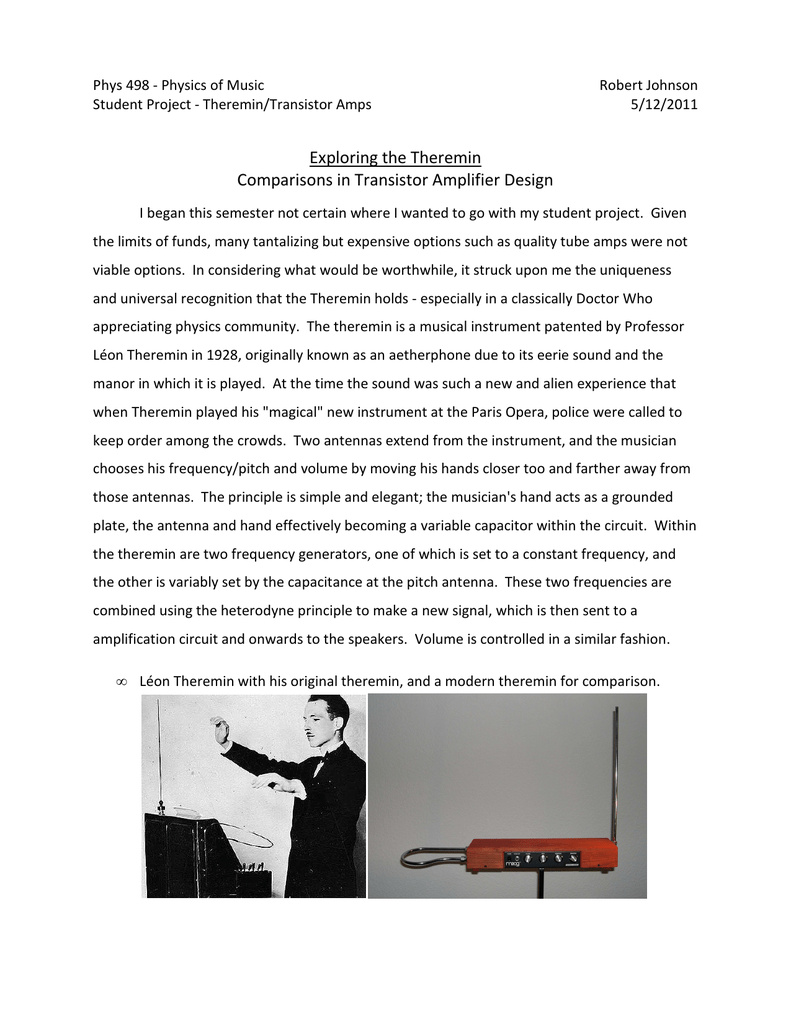 Exploring The Theremin Comparisons In Transistor Amplifier Design Http Wwwfreeinfosocietycom Electronics Schematics Audio Pictures 018203746 1 6318dbf8d96780cfc046af324e1185dd