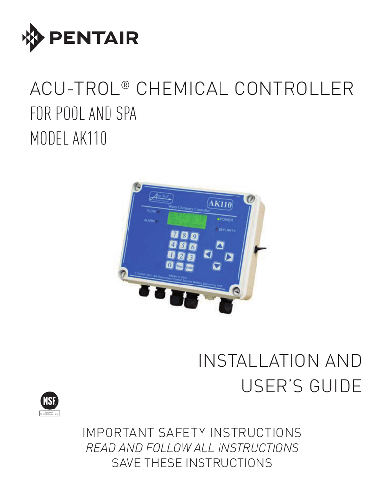 Acu trol chemical controller for pool and spa model ak110 nvjuhfo Gallery