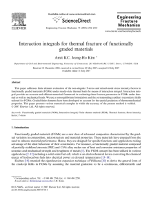 Interaction integrals for thermal fracture of functionally graded