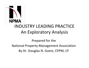 INDUSTRY LEADING PRACTICE An Exploratory Analysis