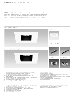LED Downlights: High performance, small aperture, architectural
