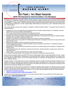 Arc Flash / Arc Blast Hazards