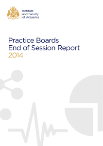 Practice Boards End of Session Report 2014