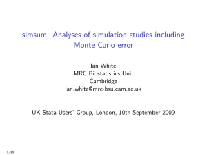 simsum: Analyses of simulation studies including Monte