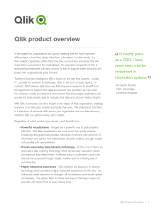 Qlik product overview