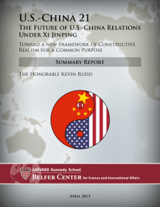 US-China 21: The Future of US-China Relations Under Xi Jinping