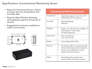 Specifications: Environmental Monitoring Sensor