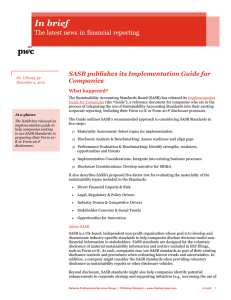 SASB publishes its Implementation Guide for Companies
