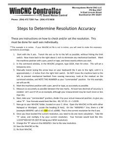 Set or Adjust Resolution Accuracy