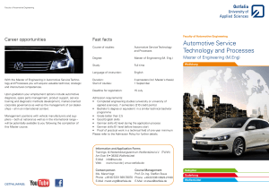 Automotive Service Technology and Processes