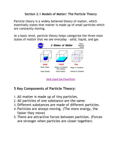 5 Key Components of Particle Theory: 1. All matter is made up of tiny