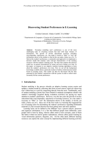 Discovering Student Preferences in E-Learning - CEUR