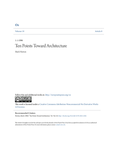 Ten Points Toward Architecture