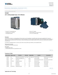 NI 9269 - Data Sheet - National Instruments