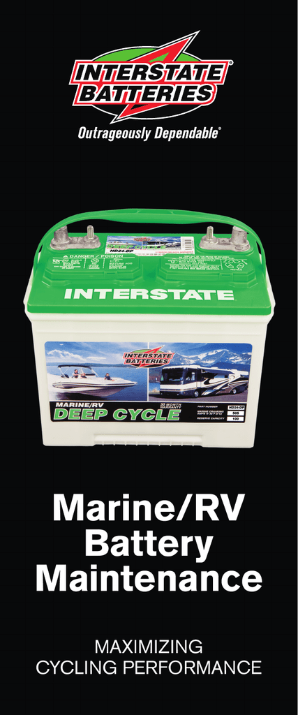 Interstate Deep Cycle Marine Battery >> Marine Rv Deep Cycle Batteries Table Of Contents