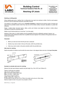 Notching or drilling joists