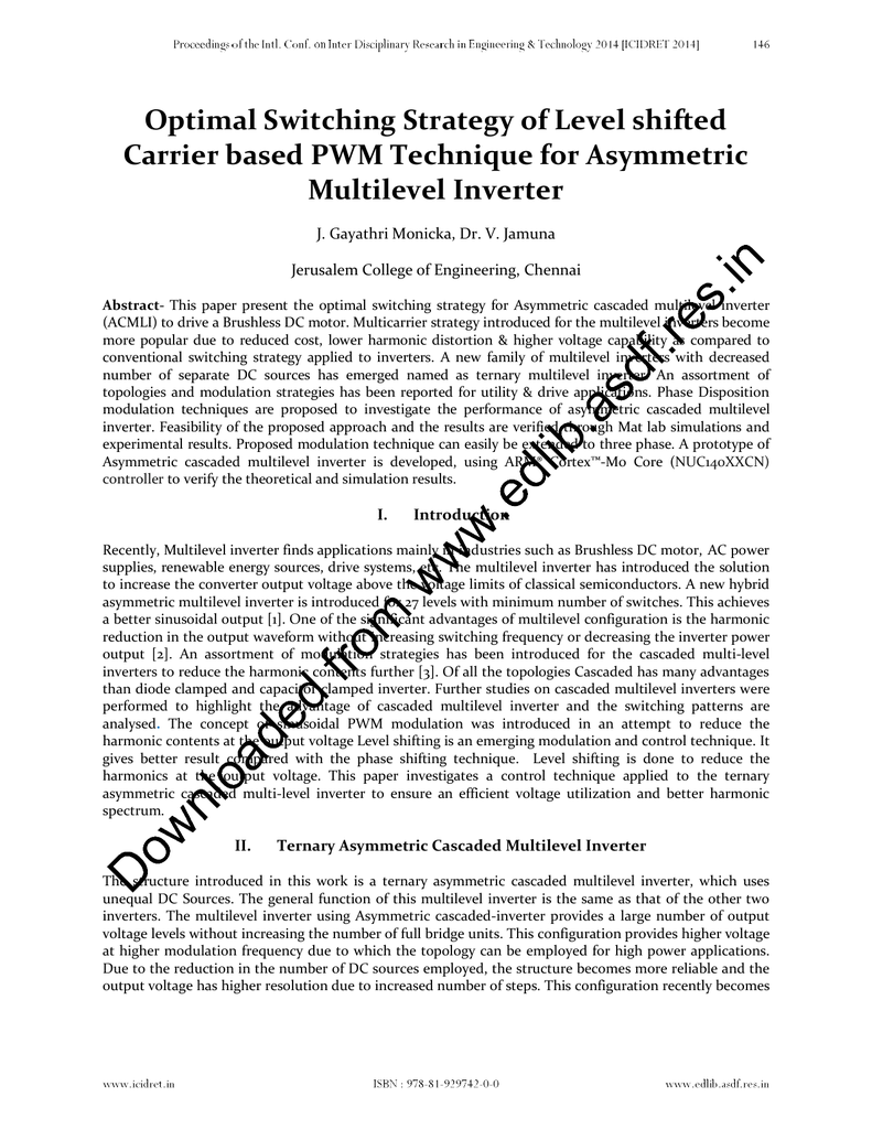 Optimal Switching Strategy of Level shifted Carrier based PWM
