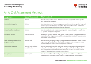 Engagement in assessment