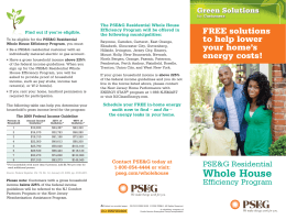 Whole House - New Jersey`s Clean Energy Program
