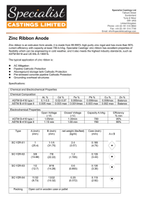 Zinc Ribbon Anode - Specialist Castings