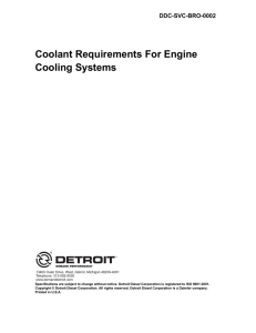 Coolant Requirements For Engine Cooling Systems