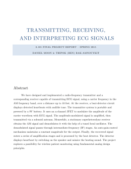 TRANSMITTING, RECEIVING, AND INTERPRETING ECG SIGNALS