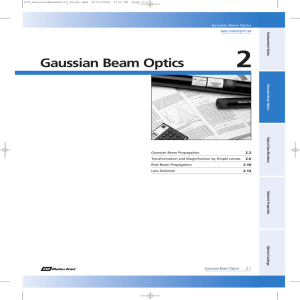 Gaussian Beam Optics - Experimentation Lab