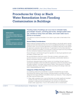 Procedures for Gray or Black Water Remediation from