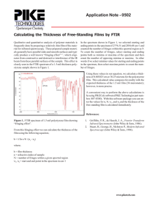 Calculating Thickness of Free-Standing Film by FTIR