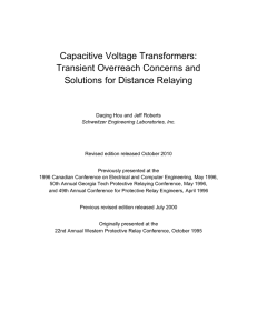 Capacitive Voltage Transformers: Transient Overreach Concerns