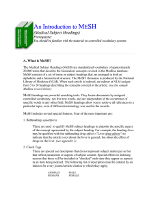 An Introduction to MESH ntroduction to MESH