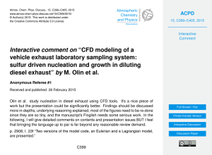 "Interactive comment on ""CFD modeling of a vehicle exhaust"