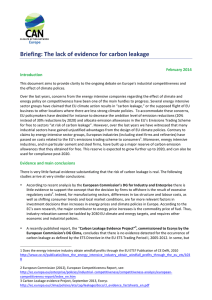 Briefing: The lack of evidence for carbon leakage