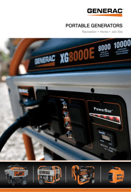 PORTABLE GENERATORS - Warshauer Electric Supply